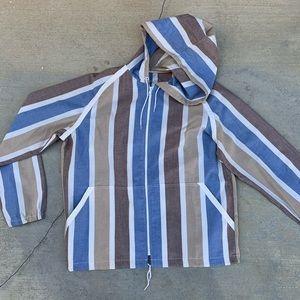 Vintage 80s John Weitz Block Striped Light Jacket